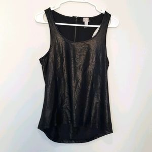 Dynamite - Textured Tank Top w/ Back Zip